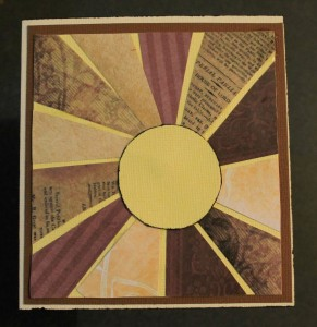 Earthy burst card