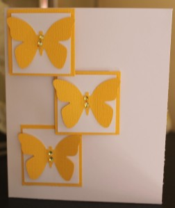 Yellow Butterfly Trio Card