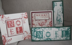 Kaszazz Card Workshop Flourish Christmas Cards