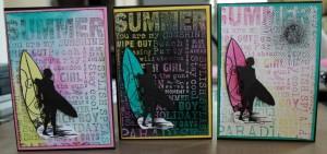 "Kaszazz Workshop ""Summer Background Cards"" (2H1629) created by Jasmine Eccles"